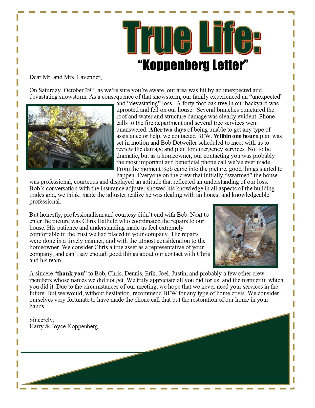 Koppenberg Letter